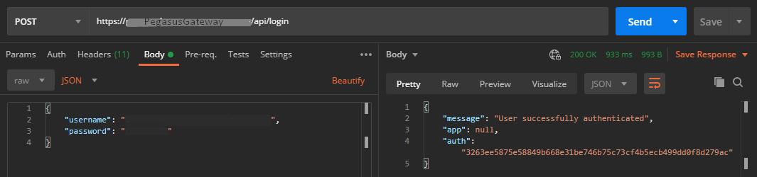 Request API Login