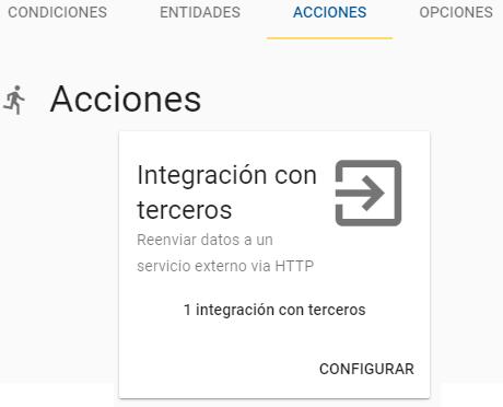 Opción de integracion